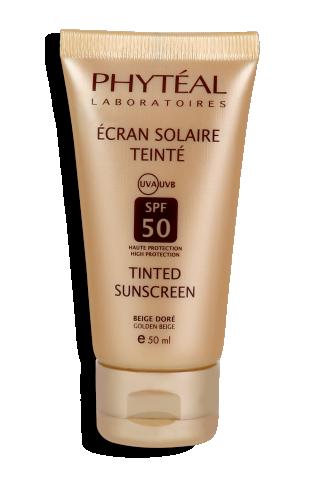 PHYTÉAL écran solaire teinté beige doré SPF 50 UVA